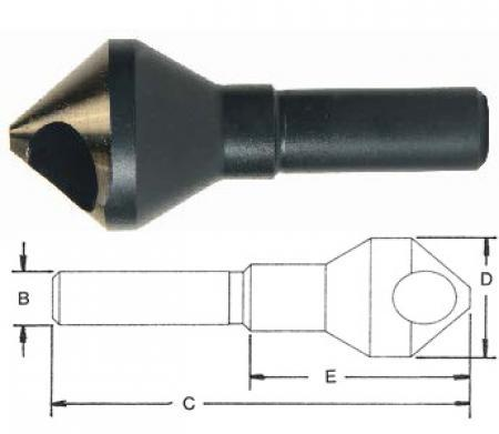 Norseman 82 Degree Pilotless Countersink #4 Screw