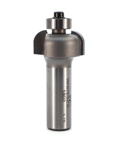 "Whiteside Cove Router Bit 1/4"" Radius 1"" Large Diameter 1/2"" Cut Length 1/2"" Shank 2 Flute"