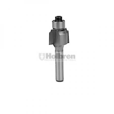 "Whiteside Beading Router Bit w/Ball Bearing 1/16"" Radius 5/8"" Large Diameter 1/2"" Cut Length 1/4"" Shank 2 Flute"