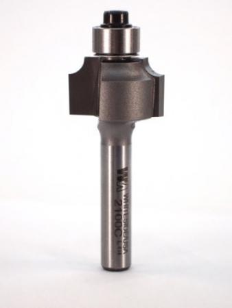 "Whiteside Beading Router Bit w/Ball Bearing 1/8"" Radius 3/4"" Large Diameter 1/2"" Cut Length 1/4"" Shank 2 Flute"
