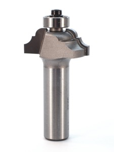 "Whiteside Classical Pattern Router Bit 5/32"" Radius 1-1/4"" Large Diameter 1/2"" Cut Length 1/2"" Shank 2 Flute"