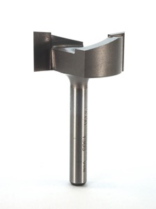 "Whiteside Mortise Router Bit 1-1/4"" Cutting Diameter 1/2"" Cut Length 1/4"" Shank 2 Flute"