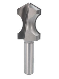 "Whiteside Plunge Cut Hand Grip Router Bit 7/8"" Bead 1/4"" Depth 1-3/8"" Cut Length 1/2"" Shank 2 Flute"