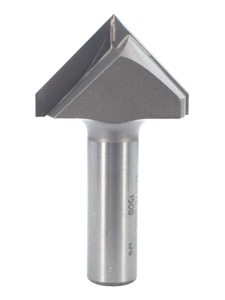 "Whiteside V-Groove Router Bit 90 Degree 1-1/2"" Cutting Diameter 3/4"" Point Length 1/2"" Shank 2 Flute"