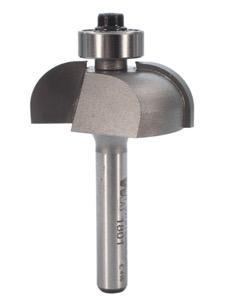"Whiteside Cove Router Bit 3/8"" Radius 1-1/4"" Large Diameter 1/2"" Cut Length 1/4"" Shank 2 Flute"