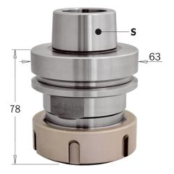 CMT Chuck HSK-F63 for ER-40 Collets Right Hand