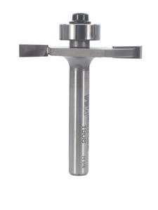 "Whiteside Rabbeting, Biscuit Joining & Slotting Router Bit 1-1/2"" Large Diameter 1/2"" Cutting Diameter 5/32"" Cut Length 1/4"" Shank 2 Flute"