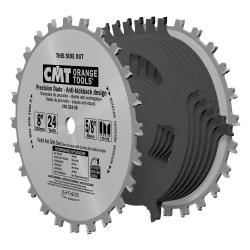 "CMT 8"" 24T Precision Dado Saw Blade Set 5/8"" Bore"