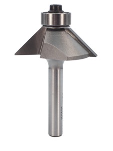 "Whiteside Chamfer Router Bit 45 Degree 5/8"" Cut Length 7/16"" Cut Height 1/4"" Shank 2 Flute"