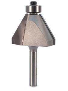 "Whiteside Edge Bevel Router Bit 30 Degree 7/8"" Cut Length 3/4"" Cut Height 1/4"" Shank 2 Flute"