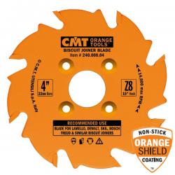 """CMT 4"""" x 8T Biscuit Joiner Blade 10 Degree ATB"""