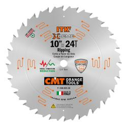 "CMT 10"" 24T Industrial Thin Kerf Ripping Saw Blade 5/8"" Bore"