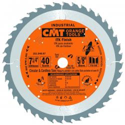 "CMT 7-1/4"" 40T Industrial Thin Kerf Framing & Decking Saw Blade"