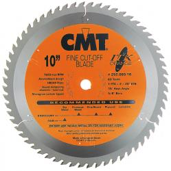 "CMT 10"" 60T Industrial Thin Kerf Fine Cut Off Saw Blade 5/8"" Bore"