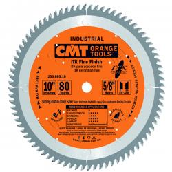 "CMT Industrial Thin Kerf Fine Finish 10""x80 5/8"" Bore"