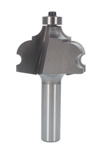 "Whiteside French Provincial Molding Router Bit 1-3/4"" Large Diameter 1-1/8"" Cut Length 1/2"" Shank 2 Flute"
