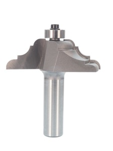 "Whiteside French Baroque Table Edge Router Bit 7/8"" Profile Width 2-1/4"" Large Diameter 3/4"" Cut Length 1/2"" Shank 2 Flute"