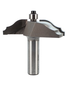 "Whiteside Ogee Bead Raised Panel Router Bit 2-1/2"" Large Diameter 5/8"" Cut Length 1/2"" Shank 2 Flute"