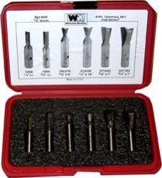 "Whiteside 605 6 Piece Incra Router Bit Set 1/2"" Shank"