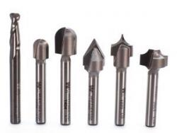 Whiteside 6 Piece Lettering CNC Router Bit Set