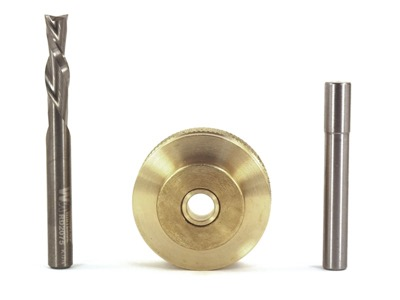 "Whiteside Solid Brass Inlay Kit 1/4"" Diameter Spiral Bit"