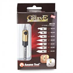 "Amana In-Groove CNC Engraving Kit 1/4"" Shank"