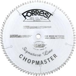 "Forrest 10"" 90T Signature Chopmaster Miter Saw Blade 5/8"" Arbor"