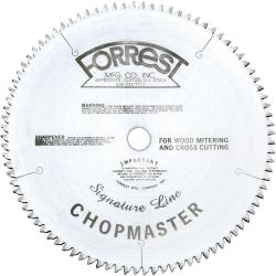 "Forrest 12"" 90T Signature Chopmaster Miter Saw Blade 1"" Arbor"