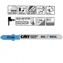 CMT 21 TPI HSS Jigsaw Blade for Curves 5 Pack