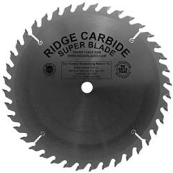 "Ridge Carbide TS2000 10"" 40T Full Kerf General Purpose Saw Blade 5/8"" Bore"