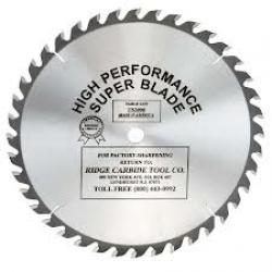 "Ridge Carbide TS2000 9"" 40T General Purpose Saw Blade 5/8"" Bore"
